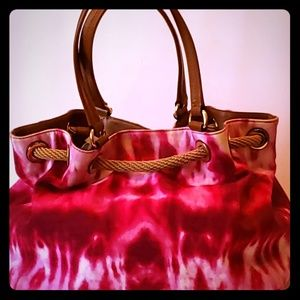 Michael Kors Pink Canvas Bag